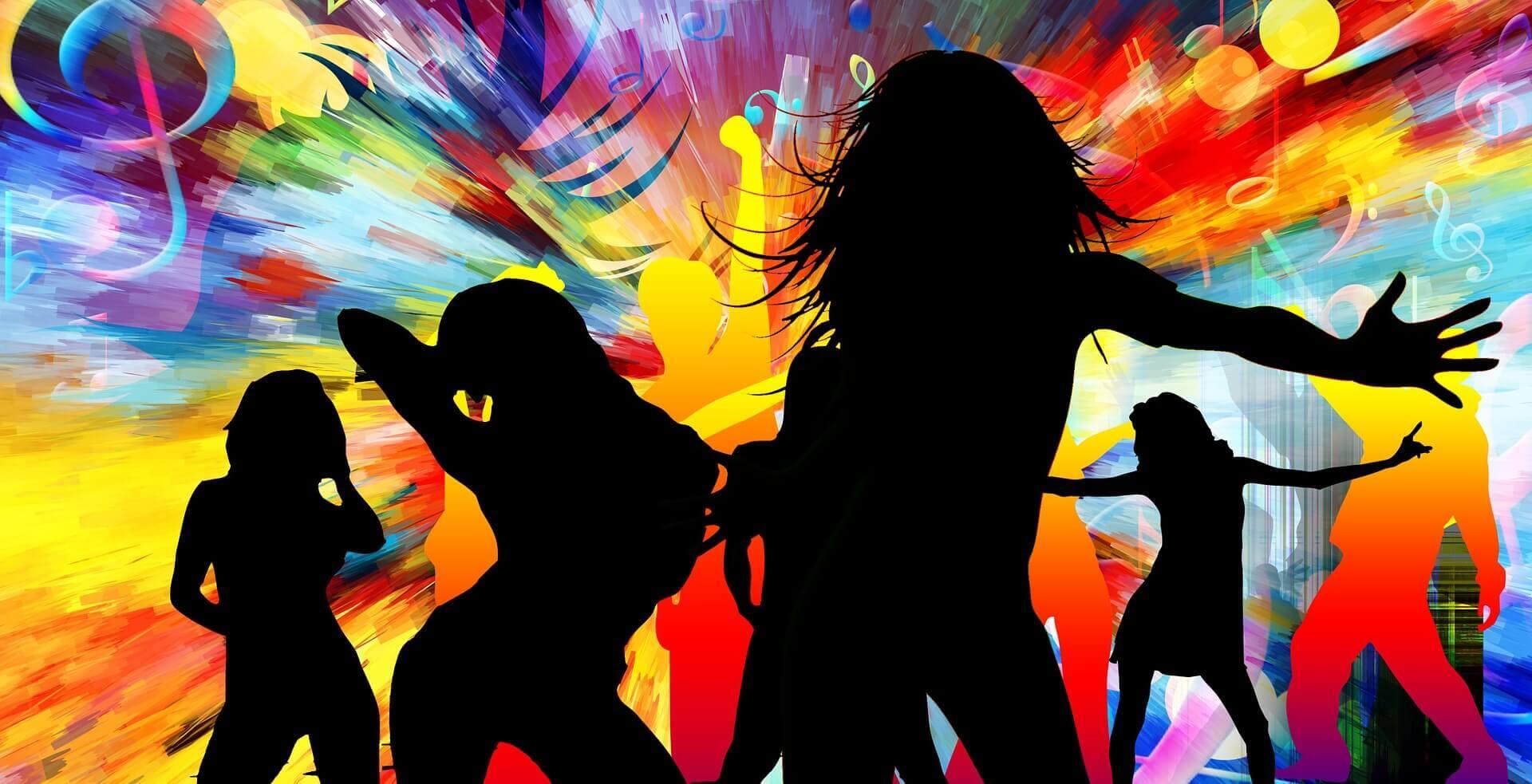 ダンスを楽しむ人々のイラスト