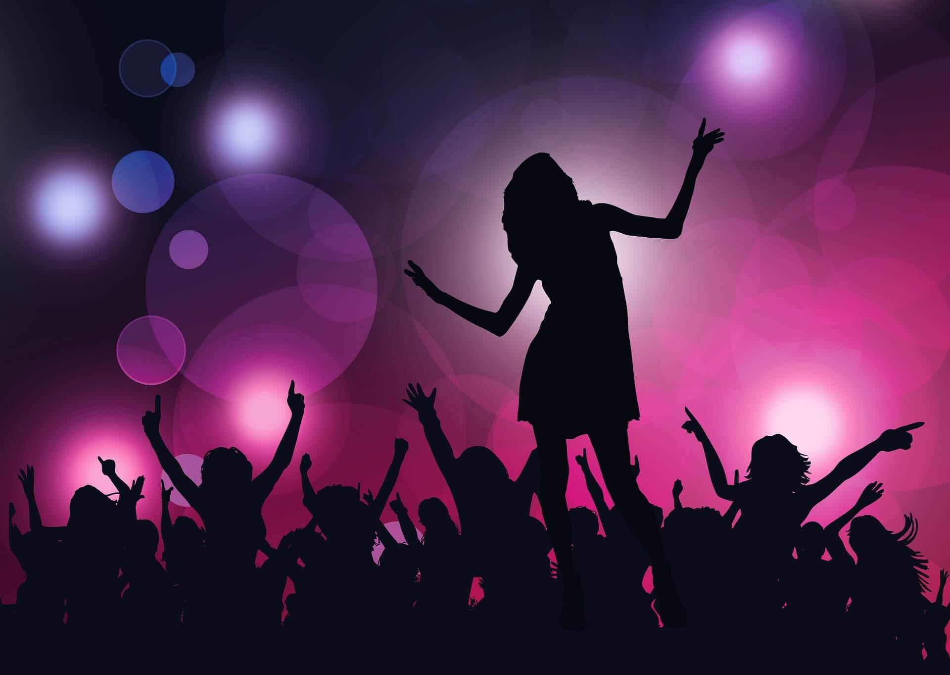 アイドルダンスをする女性のイラスト