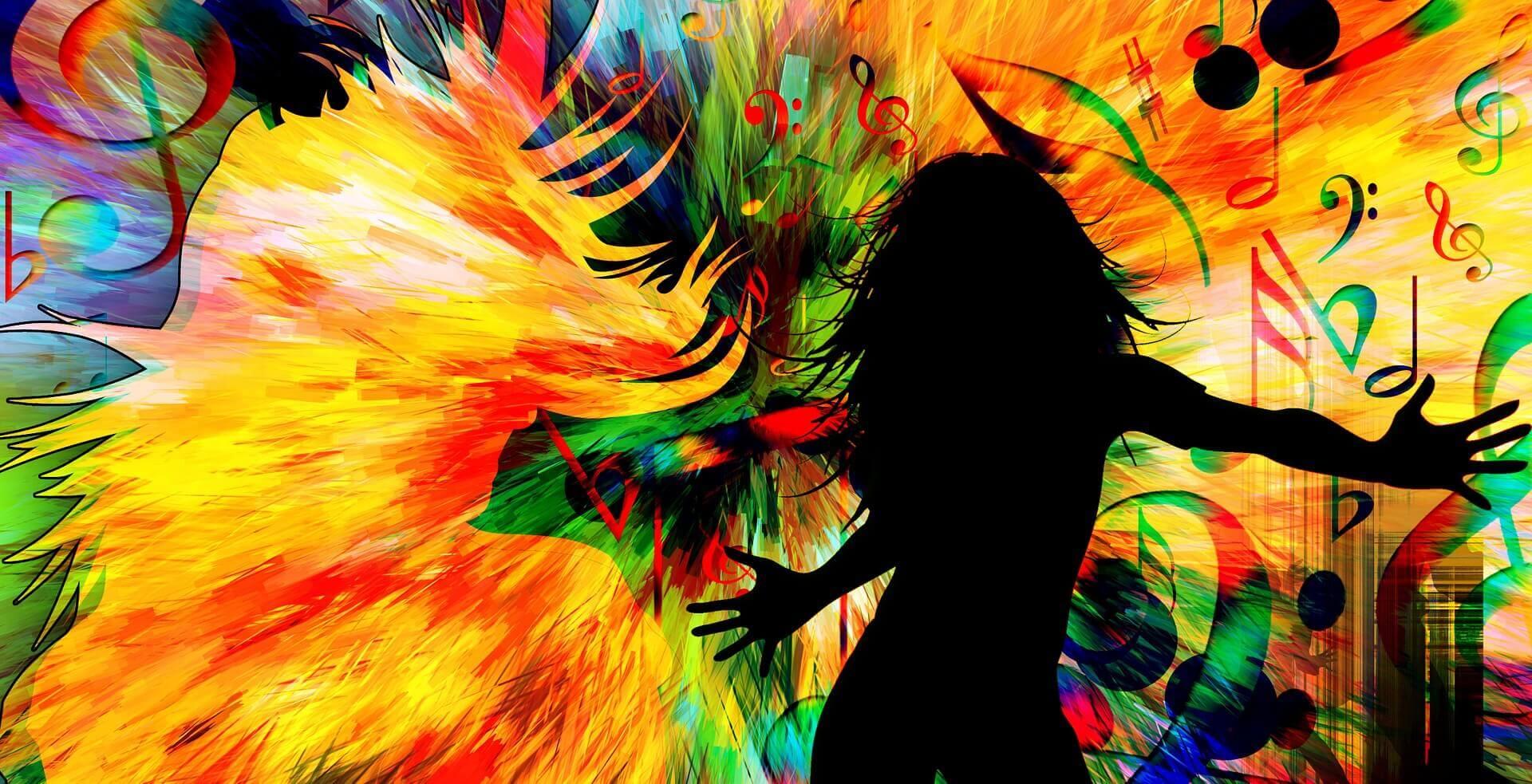ダンスを楽しむ女性のイラスト