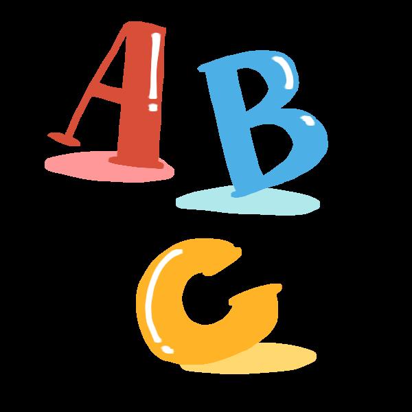 アルファベットのイラスト